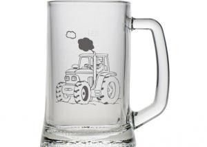 dar pro farmáře - sklenice s vybroušeným jménem
