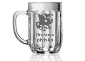 sklenice k narozeninám s obrázkem draka