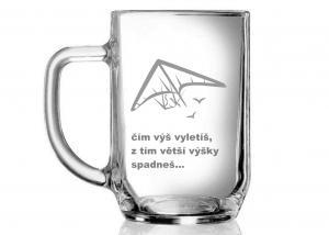 sklenice, motivační dárek s mottem a obrázkem, sklenice s citáty
