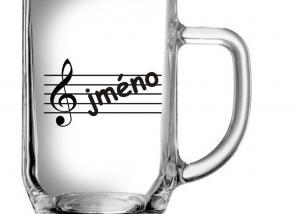 dárky pro hudebníky, muzikanty - sklenice s hudebním motivem