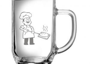 dárky pro pekaře - sklenička s obrázkem pekaře