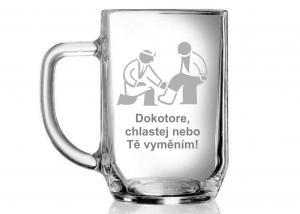dárek pro doktora - sklenice s textem