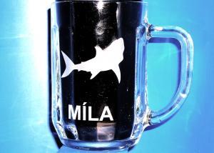 dárková sklenice se jménem pro kamaráda rybáře
