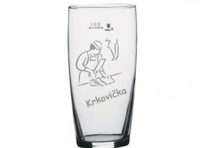 sklenice s obrázkem - dárek pro řezníka