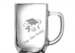 dárky k promoci muž, dárky k promoci, za složení maturity, sklenice se jménem - dar na promoci