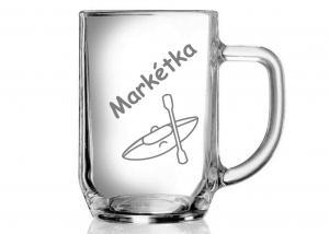 dar pro kamarádku vodačku - sklenice s kajakem