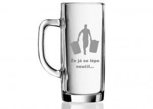 vtipný dárek - vtipná sklenice s různými motivy