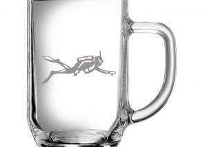dárek pro potápěče - sklenice s potápěčem