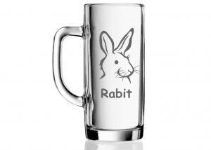 dar pro kamaráda - sklenice s přezdívkou a obrázkem králíka