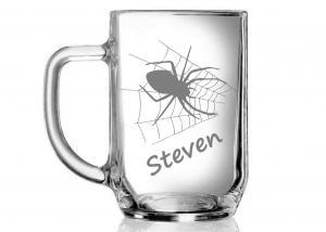 dárky pro štěstí - sklenička s pavoukem
