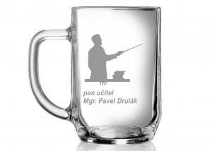 broušená sklenice - dar pro pana třídního pana učitele