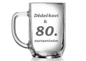 dárky pro dědu k 80 - dárek pro důchodce - sklenice k osmdesátinám