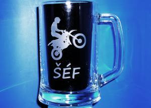 dar pro motorkáře, s motivem motorky - dar motorkáři