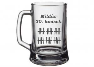 sklenice jako inspirace na netradiční dar k třicetinám