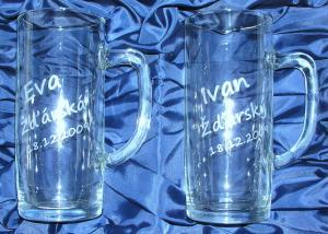 svatební dárky - svatební skleničky - originální svatební dar pro novomanžele