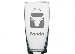 sklenice s horoskopovým znamením býka