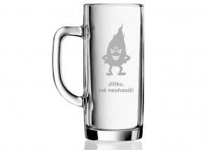 dárky s motivem piva - gravírovaná sklenice pro pivaře