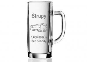 Sklenice s obrázkem autobusu - dar pro řidiče autobusáka