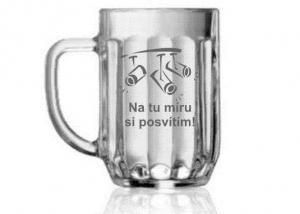 sklenice na pivo - dárek pro stálého hosta, štangasta, pivaře, osvětlovače